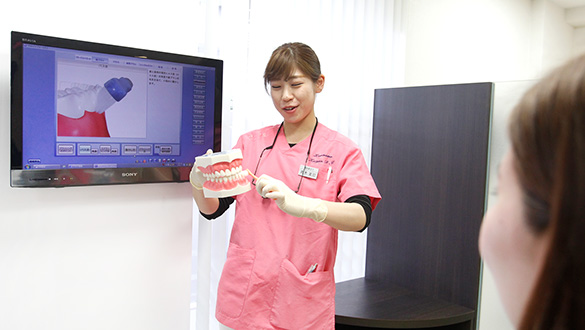 歯磨き指導の様子